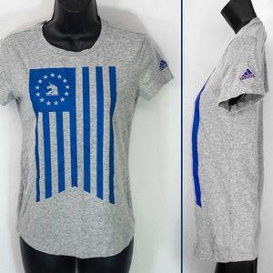 Adidas Boston Marathon Shirt 2016 Flag Gray 1500X